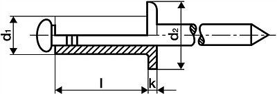 GESIPA polyGrip Blindniete Niete Alu-Stahl 4,8 x 10, Minipack = 50 Stk. 6704110