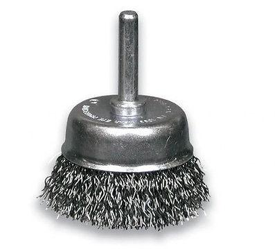 RHODIUS Stahlbürste Topfbürste gewellt Ø 75 mm, Stahldrahtbürste f. Bohrmaschine