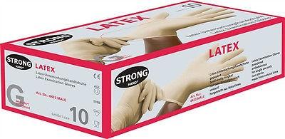 100 Stk. Handschuhe Einweghandschuhe, Gr.10 XL gepudert