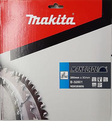 Makita Kreissägeblatt Makblade 260 x 30 mm Holz-Sägeblatt 60 Zähne B-32801